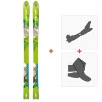 Ski Dynastar Cham Alti 83 2014 + Fixations randonnée + PeauDACLQ01