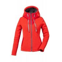 Veste Pyua Tide Hooded Full Zip Fleece Red Melange
