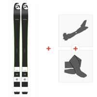 Ski Amplid Ego trip evolution 2015 + Alpine Touring Bindings+ Climbing Skins