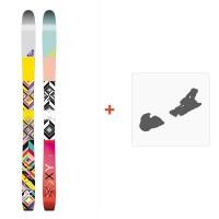 Ski Roxy Shima 2016 with Ski Bindings