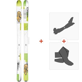 Ski K2 Wayback 88 2016+ Alpine Touring Bindings + Climbing skin