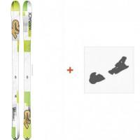 Ski K2 Wayback 88 2016 + Fixation de ski