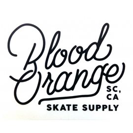 Blood Orange 'Writing' Sticker