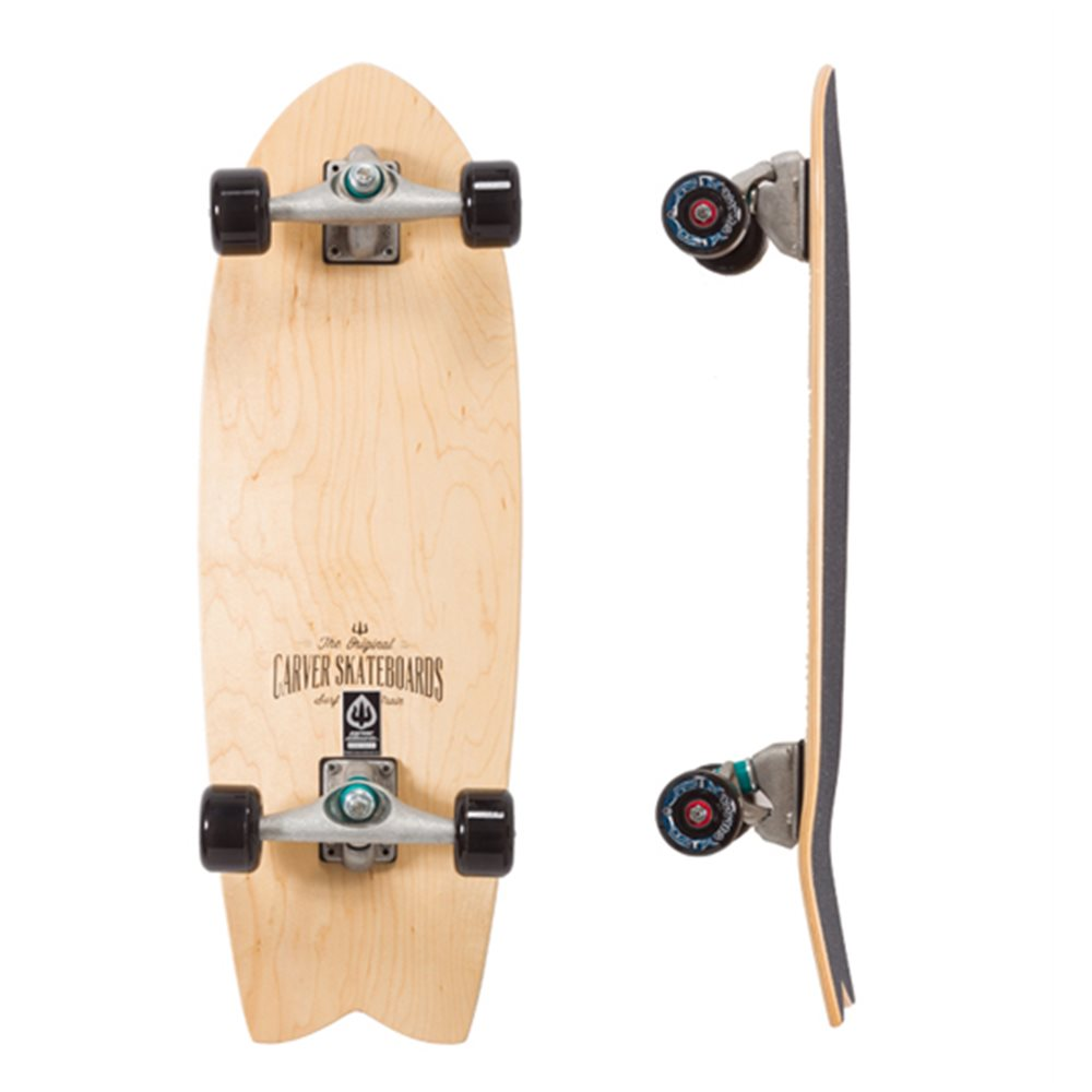 "Surf Skate Carver Swallow Clearwood 29"" Complete"