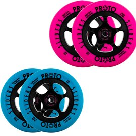 Proto Slider Day-Glo Scooter Wheels Complete 2-Pack