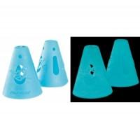 Powerslide FreeSkating Accesso Cones , Glow In The Dark, 10-Pack