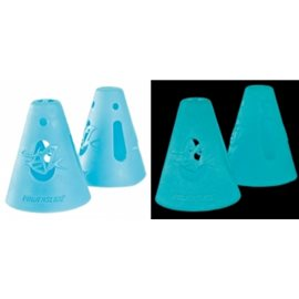 Powerslide FreeSkating Accesso Cones , Glow In The Dark, 10-Pack