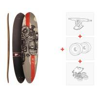 """Skateboard Fibretec Tanker 41\\"""" - Complete  (Axes et roues à choisir)"""