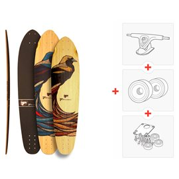 "Skateboard Fibretec S-Cruiser 35.5\\"" / 37.5\\"" - Complete (Axes et roues à choisir)2016"