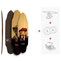 "Skateboard Fibretec Croco 35.75\\"" / 37.5\\"" - Complete (Axes et roues à choisir) 2016"