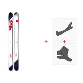Ski Faction Candide 2.0 2017 + Alpine Touring Bindings +  Climbing skin