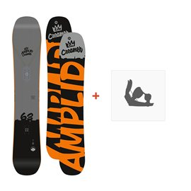 Snowboard Amplid The Creamer 2016 + FixationA-150104