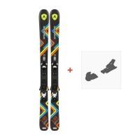 Ski Dynastar Slider JR + Xpress Team 7 B83 Black White 2016