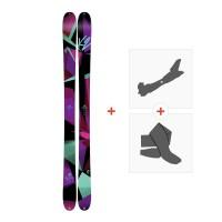 Ski K2 Remedy 92 2017 + Fixations randonnée + Peau