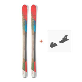 Ski Nordica Belle 88 2017 + Fixation de ski0A609400.001