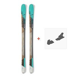 Ski Nordica Belle 78 2017 + Fixation de ski0A609800.001