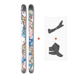 Ski Faction ProdigyW 2017+ Alpine Touring Bindings + Climbing skin