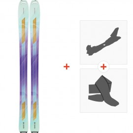 Ski Head Great Joy 2017 + Alpine Touring Bindings + Climbing skin311646