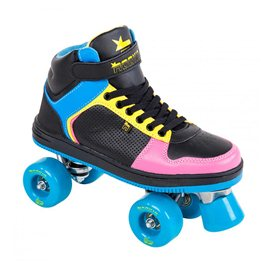 Rookie Rollerskates Hype Hi Top Traine Black/Blue/Pink/Yellow 2017