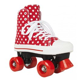 Rookie Rollerskates Canvas High Polka Dots Red/White 2017