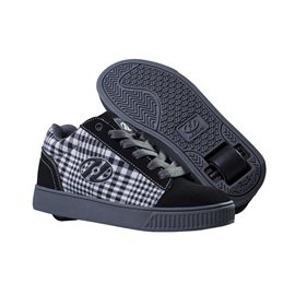 Heelys Chaussures Straight up Black/Plaid/Charcoal/White 2017