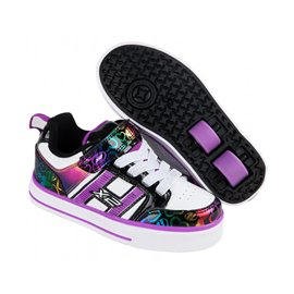 Heelys Chaussures Bolt Plus White/Black/Rainbow Hearts 2017
