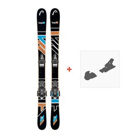 Ski Head The Jr Caddy SW BK/OR 2017 + Fixation de ski