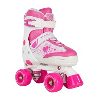 Rookie Adjustable Skate Pulse Junior Pink/White 2017
