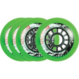 Powerslide Hurricane Green Wheel 4-pack 2017