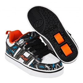 Heelys Chaussures X2 Bolt Plus Black/White/Orange/Cyan 2017770938