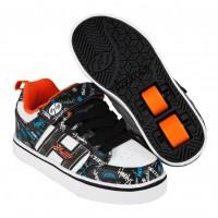 Heelys Chaussures X2 Bolt Plus Black/White/Orange/Cyan 2017770938