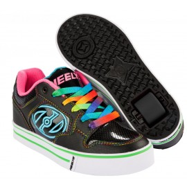 Heelys Chaussures Motion Black/Hot Pink/Rainbow 2017
