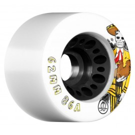 Rollerbones Quad Wheels Day of the Dead White 2017