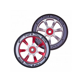 Crisp Hollowtech Spoked Wheels 110mm, Silver, Red, Black, Pair 20171216550