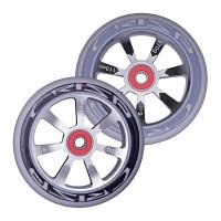 Crisp Hollowtech Spoked Wheels 110mm, Silver, Black, Grey, Pair 20171216555