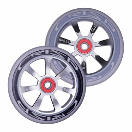 Crisp Hollowtech Spoked Wheels 110mm, Silver, Black, Grey, Pair 20171216555