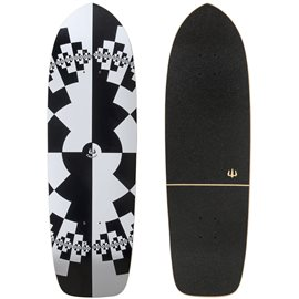 "Surf Skate Carver Fraktal 32"" Deck Only"