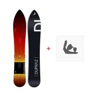 "Snowboard Dupraz D1 6'3\\"" 2017 + Ski bindings"
