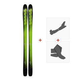 Ski K2 Pinnacle 95 2018 + Fixations randonnée + Peau