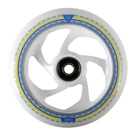 AO Mandala white 5 Hole Wheel 110mm ICl. Titen Abec 7