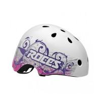 Roces Aggressive Tatoo Helmet white/violet 2017301418 00001