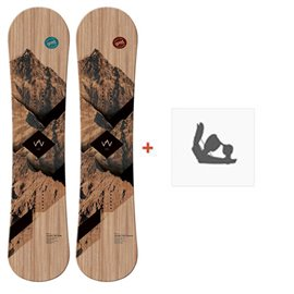 Snowboard Goodboard Wooden Camber + Fixation