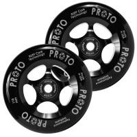 Proto Slider Pro Scooter Wheel Black-Black 2-Pack (Black) 2018TGPSWHSL10BB