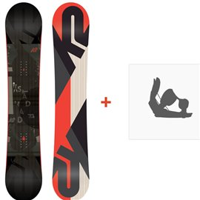 Snowboard k2 standard wide 2017 + Fixation