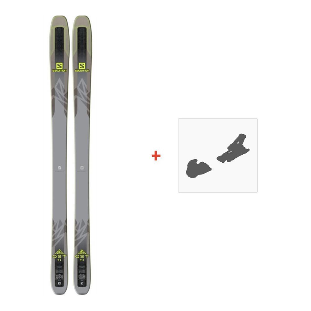 Ski SALOMON SALOMON T Qst 92 Ski+Warden Mnc 11 Fixations Homme