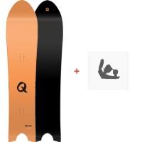 Snowboard Nitro Quiver Pow 2018 + Fixation830215-1