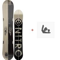 Snowboard Nitro Nomad Set Skins 2018 + Fixation830223SET