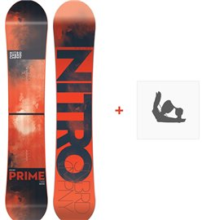 Snowboard Nitro Prime 2018 + Fixation830237