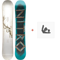 Snowboard Nitro Beast 2018 + Fixation830239