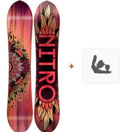 Snowboard Nitro Sweet Leaf 2018 + Fixation830249